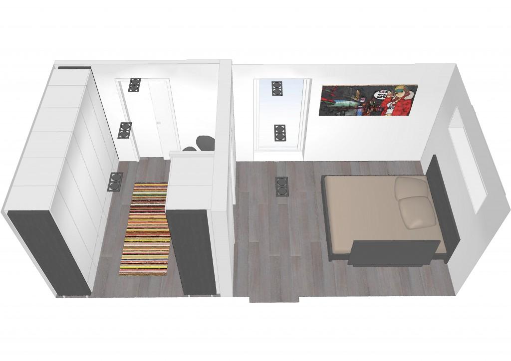 Soveværelse og walk-in