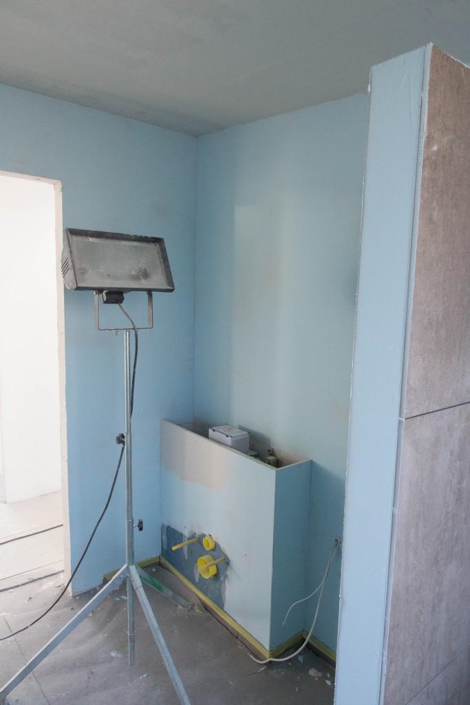 The blue room, nej det er gæstebad som er vådrumsbehandlet