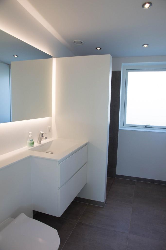 Vi er godt tilfreds med vores backlight spejl, som vi har valgt hos Svane